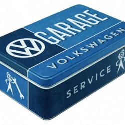 Boite à sucre métal relief 23 x 16 x 7cm VW Garage NA30727