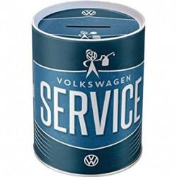 Boite métal relief tirelire 10 x 13cm VW Service NA31016