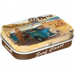 Mini boite métal avec bonbons menthe Combi ready for the summer
