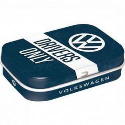 Mini boite métal avec bonbons menthe VW drivers only NA81349