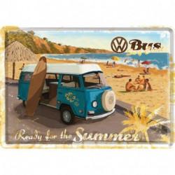 Carte postale métal Combi Ready for the Summer NA10172