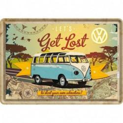 Carte postale métal Combi let's get lost NA10223 NOSTALGIC ART