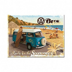 Magnet 8 x 6 cm Combi ready for the summer NA14264 NOSTALGIC ART
