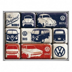 Magnets lot de 9 VW Original Ride NA83075 NOSTALGIC ART