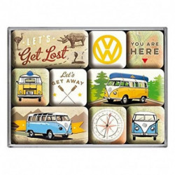 Magnets lot de 9 Combi let's get lost NA83080 NOSTALGIC ART