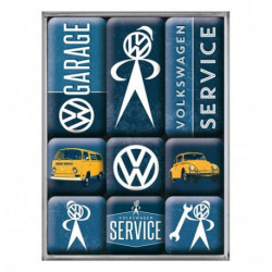 Magnets lot de 9 VW Service NA83081 NOSTALGIC ART