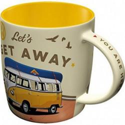 Tasse mug Combi Let's Get Away NA43032 NOSTALGIC ART