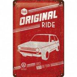 Plaque métal relief 30 x 20cm Golf Original Ride NA22212