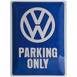 Plaque métal relief 40 x 30cm VW parking only NA23135 NOSTALGIC