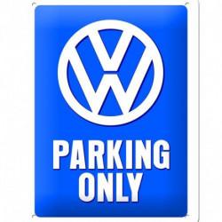 Plaque métal relief 20 x 15cm VW Parking Only NA26169 NOSTALGIC