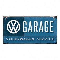 Plaque a suspendre métal relief 20 x 10cm VW Garage NA28004