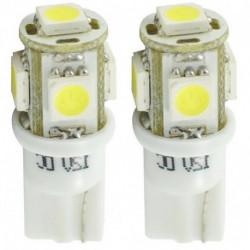 Ampoules blanches à LED T10 W5W 0,6w 12 volts (paire) UNPL054W