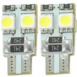 Ampoules blanches à LED T10 W5W 1,6w 12 volts canbus (paire)