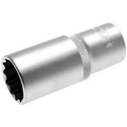 Douille longue 1/2 -12 pans - 24 mm 10688 BGS
