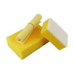 Set de lavage éponge et peau de chamois UN1750109 PLANET LINE
