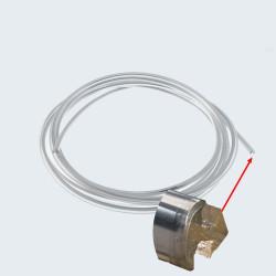 Moulure en plastique chromée pour joint de vitre - rouleau de 410 CM